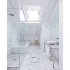 """Hotel Ayllón - Segovia Spain Lucas y Hernández-Gil Arquitectos  Photo © Jara Varela @hotelayllon #bathroom #hotel #designhotel #hoteldesign #hotelayllon #marblebathroom #interiors #instadecor #instainterior #instabathroom"" Photo taken by @lucdesign on Instagram, pinned via the InstaPin iOS App! http://www.instapinapp.com (01/10/2016)"