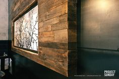 Here is a detail shot of our work in The Riverhorse on Main restaurant in Park City, UT  .wood.salvaged.