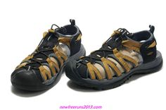 Keen Kanyon Sandals 2013 Black And Yellow