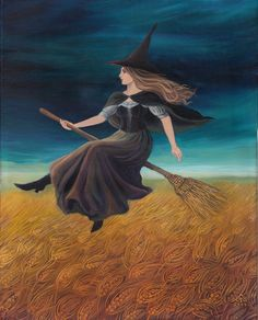 Barley Witch Victorian Pagan Goddess Art Print por EmilyBalivet