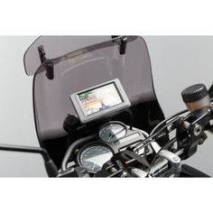 Motorrad Navi-Halter im Cockpit schwarz Sw Motechsw Motech Bmw