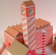 Santa Claus House Diorama Paper Model - by Paper Toys.Com  ==          A beautiful addition to your Christmas decor: the Santa`s House Diorama, by Paper Toy.Com website.