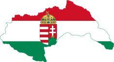 Fájl:Flag-map of Hungary Alternate History, New Brunswick, Flags, Alternative, Army, Tattoo, Christmas Ornaments, Holiday Decor, Maps