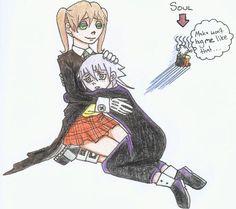 Maka and Crona Hug by HitanTenshi on DeviantArt