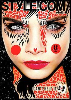 Hattie Stewart doodles on Style.com