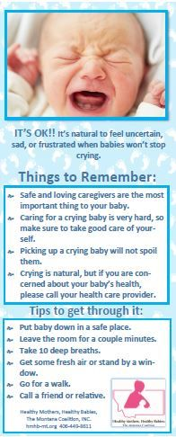 HMHB's new Crying Card. They are a great reminder to parents about the Period of PURPLE Crying!