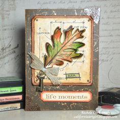 Richele Christensen - Tim Holtz Leaf Blueprint Stamp and Framelits http://www.simonsaysstampblog.com/blog/life-moments-part-2/?