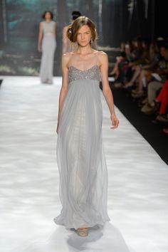 Badgley Mischka - Runway - Spring 2013 I made a similar dress for my Master's opera performance... I like this gray one better