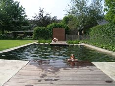 Outdoor Life, Outdoor Living, Country Pool, Landscape Design, Garden Design, Farm Pond, Modern Fence Design, Simple Pool, Pool Houses