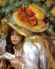Two Young Girls Reading ~ Pierre Auguste Renoir