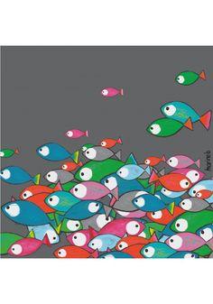 Banc de poissons - Marine-b