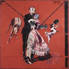 Peter Sengl, Dog Hand Puppets' Masquerade Ball on G. Verdi's Birthday, 2013 © Owned by the artist Hand Puppets, Gustav Klimt, Masquerade Ball, New Words, Figurative Art, Art Nouveau, Museum, Artist, Artwork