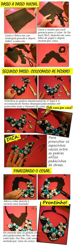 Easy-to-make necklace with my love.