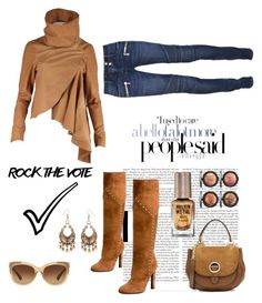 """Rock the Vote!"" by im-karla-with-a-k ❤ liked on Polyvore featuring Nicholas K, Yves Saint Laurent, Balmain, Lipsy, Red Camel, MICHAEL Michael Kors and Coach"
