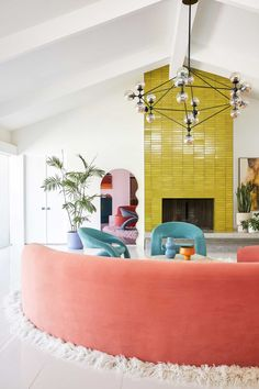 Bells + Whistles renovated a 1957 Wexler house near Palm Springs called Marrow Midcentury with a dream-worthy mix of vibrant colors and bold patterns.