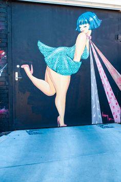 by Lucy LUCY - street artist Best Graffiti, Street Art Graffiti, Amazing Street Art, Amazing Art, Plus Size Art, Shadow Art, Wow Art, Street Artists, Public Art
