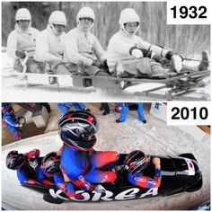 Bobsleigh #thenandnow