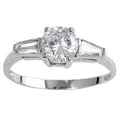 Janice's Three-Stone Brilliant Cut Cubic Zirconia Engagement Ring