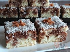 Czech Recipes, My Recipes, Cookie Recipes, Healthy Recipes, Ethnic Recipes, Kefir, Kakao, Dessert Bars, Coco