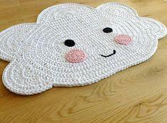 "Items similar to Nursery carpet ""cloud"" / cloud carpet / crochet rug / crochet / carpet / cloud / cloud on Etsy Crochet Carpet, Crochet Home, Crochet Baby, Animal Rug, Knit Rug, Crochet Rug Patterns, Crochet Amigurumi, Nursery Rugs, Handmade Headbands"