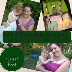 Chewable jewelry, Chew beads, Chewlery, Teething jewelry, baby wearing necklace, whatever you call them... they are all the rage! A must-have for any teething baby & mama.