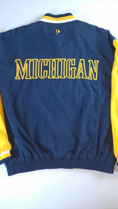 #Michigan Wolverines Lightweight Jacket Mens SZ L/XL http://etsy.me/1MHYPjC via @Etsy #etsyfind #90s #big10 #bigblue #goblue #beatosu