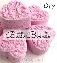 Pamper YOU with DIY Bath Bombs, Learn how to make Bath Bombs or Bath Fizzies with this super easy recipe. Great Gift Idea! A Free FiberArtsy.com Tutorial