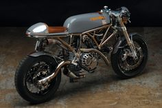 "Custom Ducati SportClassic by Revival Cycles The wheels are shod with #Michelin Pilot racing wet-weather tires—""Simply because they perform amazingly well on dry roads, and look great."""
