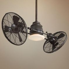 minka aire vintage gyro oil rubbed bronze ceiling fan - Cool Ceiling Fans