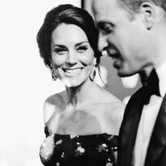 William and Catherine at the 2017 BAFTAs