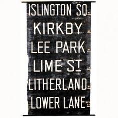 Vintage Trolley Sign - Islington SQ