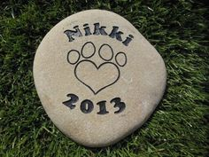 Sandblast Engraved River Stone Pet Memorial Headstone Grave Marker Dog Cat p med *** Find out more about the great product at the image link.