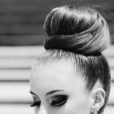 Mod bun and makeup
