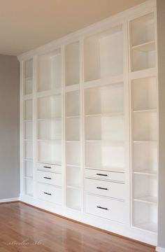 Ikea Built-in bookcases with Hemnes furniture
