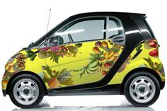 Cool Smart 2017 - Fallen Fruit for Smart Car. Fallen Fruit is a long-term art collective that bega. Fall Fruits, Smart Fortwo, Smart Car, Car Painting, Cool Cars, Dream Cars, Automobile, Baby Shoes, Bike