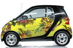 Cool Smart 2017 - Fallen Fruit for Smart Car. Fallen Fruit is a long-term art collective that bega. Fall Fruits, Smart Fortwo, Smart Car, Car Painting, Cool Cars, Dream Cars, Automobile, Bike, Cool Stuff