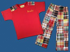 Personalized MadCap Boy's Top with Matching by SunbeamRoad on Etsy, $42.50