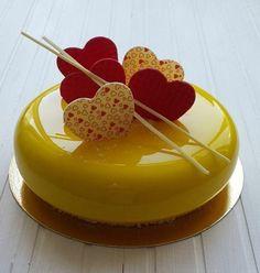 glaçage miroir jaune brillant Plus