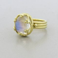 Temple St. Clair Moonstone Cabochon Gold Ring image 2