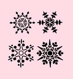 SNOWFLAKE-STENCIL-SNOWFLAKES-CHRISTMAS-STENCILS-CRAFT-ART-TEMPLATE-NEW-7-X-5