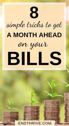 8 Simple Budgeting Tricks to Get You a Month Ahead on Your Bills - Finance tips, saving money, budgeting planner Budgeting Finances, Budgeting Tips, Ways To Save Money, Money Saving Tips, Money Tips, Money Hacks, Managing Money, Planning Budget, Budget Planer