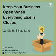 Offer your products/services to everyone in need while staying safe and healthy. Give your business a digital life. Visit www.bgspatna.com WhatsApp 7004475792. #DigitalMarketing #SmallBusiness