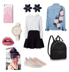 Grace's style by grace-karali on Polyvore featuring polyvore, fashion, style, Monrow, Miss Selfridge, adidas Originals and clothing