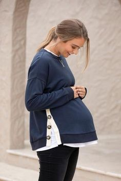 From tank tops to tees... tops for maternity or nursing tops - Bae has got you covered. Our collection of stylish, trendy, cool and carefully designed maternity and pregnancy tops has something for everyone. Shop our new arrivals now. Casual Maternity Outfits, Stylish Maternity, Maternity Tops, Winter Clothes, Winter Outfits, Maternity Winter, Nursing Tops, Dress P, Pregnancy Photos