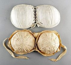 """Bust improvers - ca. 1910 This site takes me back to a project I did in Uni """"the history of underwear"""" a fascinating study!"""