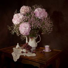Kostenloses Bild auf Pixabay - Stillleben, Blumen, Hortensie