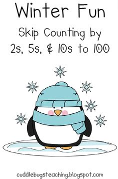 Winter Fun - Skip counting by 2s, 5s, and 10s math station for Kinder, 1st, or 2nd Graders
