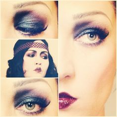 1920's makeup. except I hate how the lips were done.