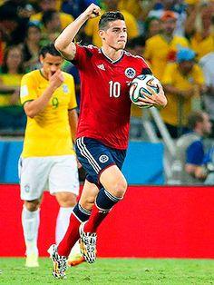 James Rodríguez la estrella colombiana brilló durante el mundial Brasil 2014, pero no lograron ganarle a los anfitriones jugando en casa. Marcó un tanto pero no fue suficiente. El partido quedó en 2-1