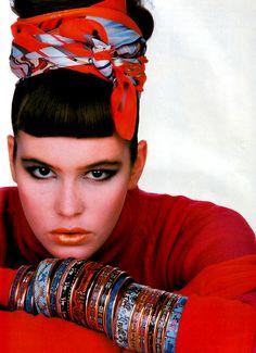 Gilles Bensimon for Elle magazine, November 1985.
